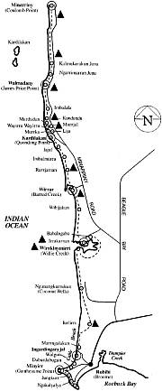Map of the lurrujari trail